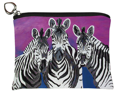 zebra change purse