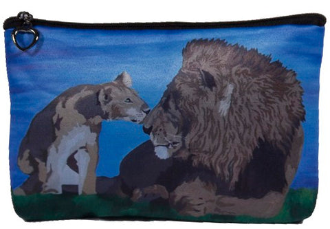 lion cosmetic bag