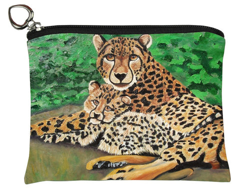 cheetah change purse