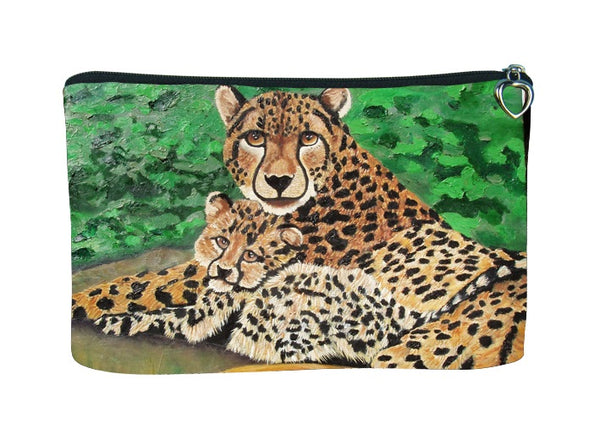 cheetah cosmetic bag
