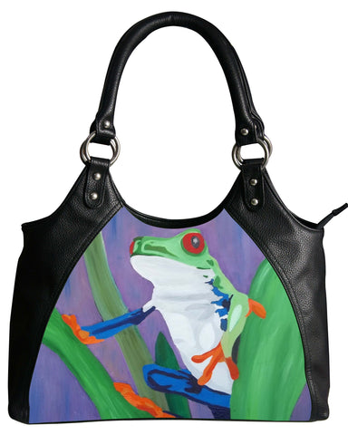 tree frog vegan leather bag