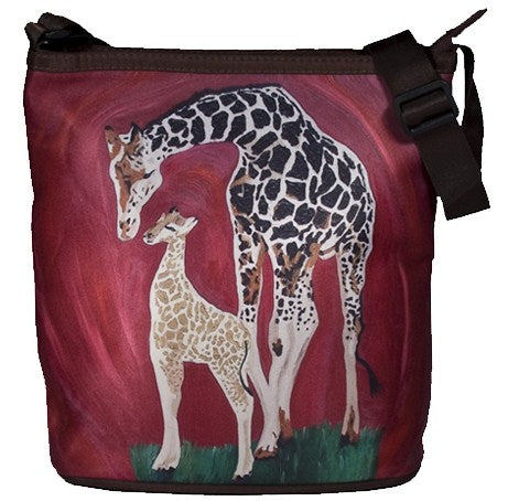giraffe cross body bag large
