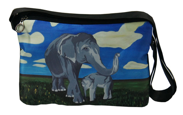 asian elephant messenger bag