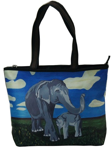asian elephant tote bag