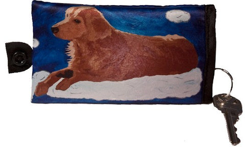 Golden retriever key case
