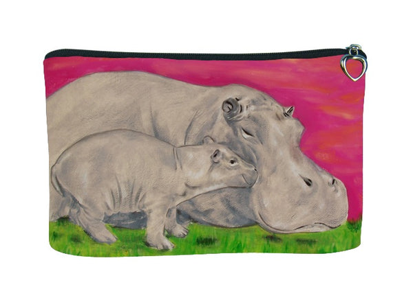hippo cosmetic bag