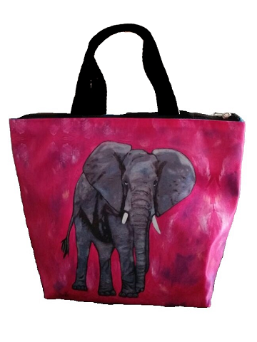 elephant resusable lunch bag