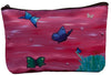 colorful Butterflies make-up bag