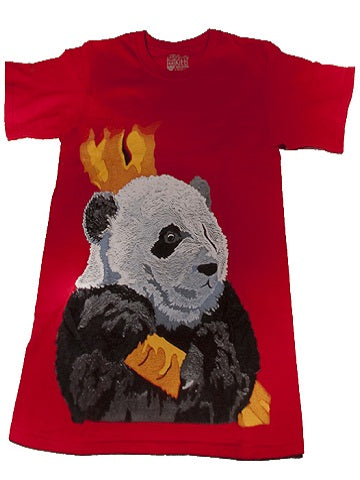 panda t-shirt made in the USA cotten red