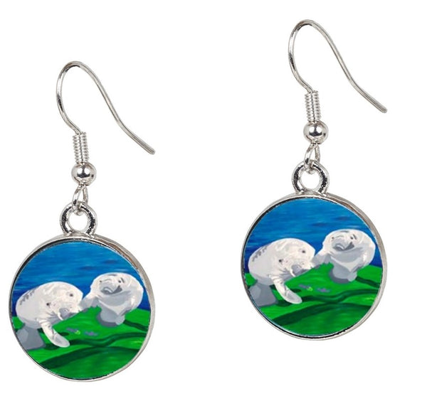 Manatee Earrings – Taino Curiosity