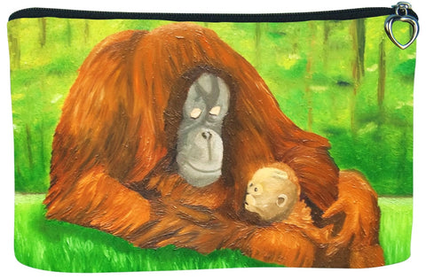 Orangutan make-up bag