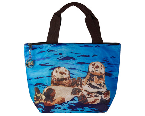 sea otter lunch bag