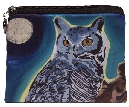 great horned owl coin purse