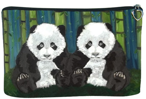 panda cubs cosmetic bag