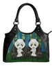 panda leather shoulder bag