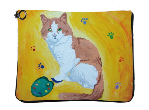 Cat Case Featuring Salvador Himself- Paw in the Paint
