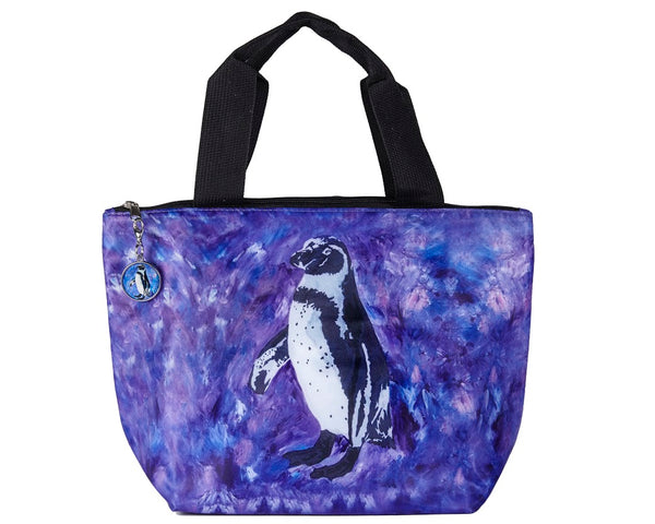 penguin lunch bag tote