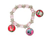 sloth elephant giraffe stretch charm braclet for girls