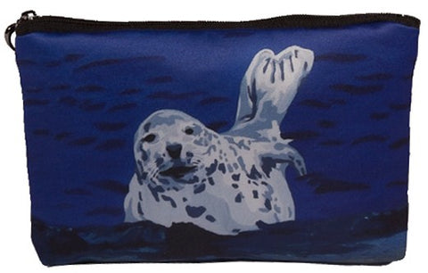 baby seal make-up bag