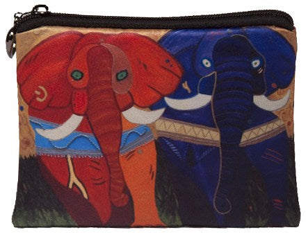 colorful african elephant coin purse