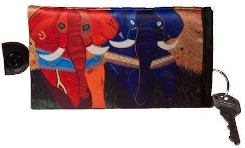 colorful african elephant key chain