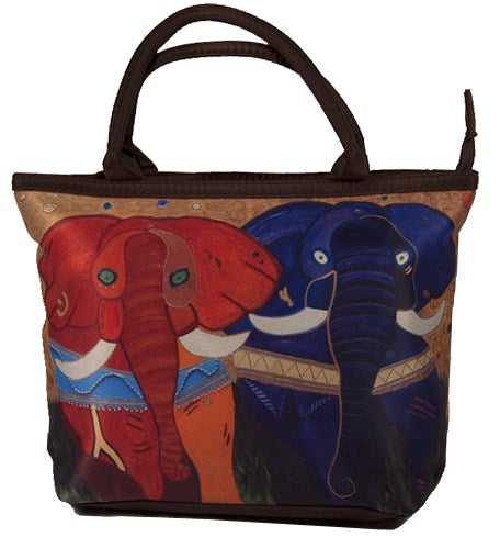colorful african elephant bag