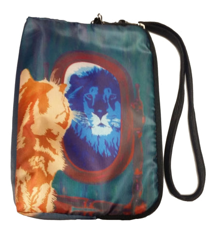 Cat Wristlet zip around