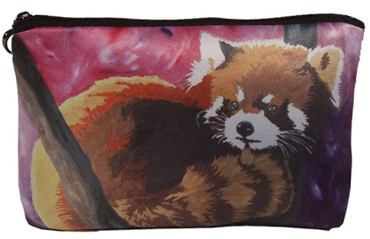 red panda make-up bag