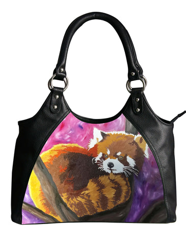 red panda leather bag