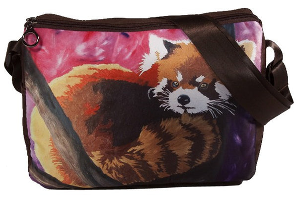 red panda extra large messenger bag