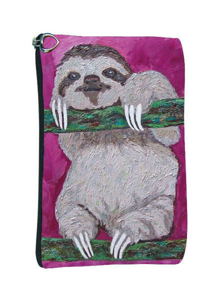 sloth make-up bag