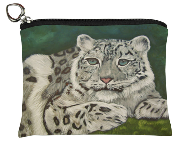snow leopard coin purse