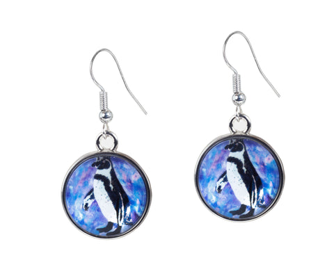 black foot penguin earrings
