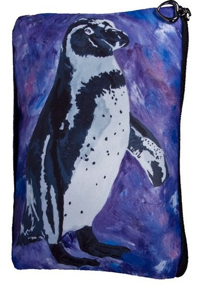 black foot penguin make-up bag