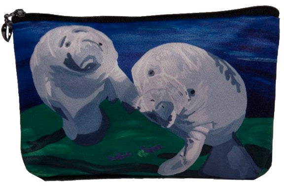 manatee make-up bag cosmetic bag