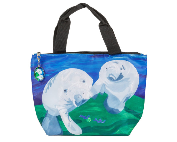 manatee reusable lunch bag