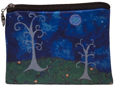 whimsical trees coin purse