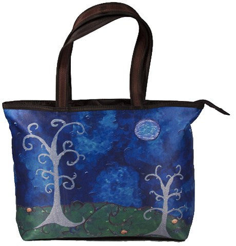 whimsical trees tote bag