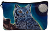 great horned owl cosmetic bag