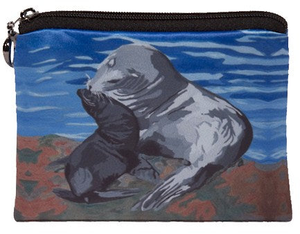 sea lion change purse