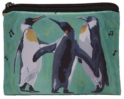 christmas penguin change purse