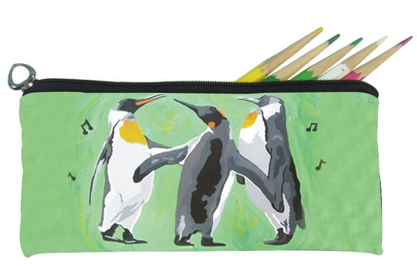 christmas hoilday penguins pencil bag for kids