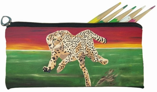 cheetah pencil bag