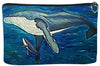 humpback whale cosmetic bag