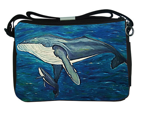 humpback whale messenger bag