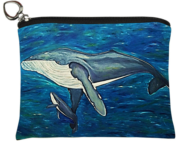 humpback whale change purse