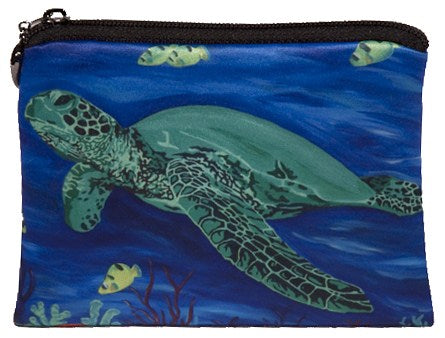 green sea turtle change purse