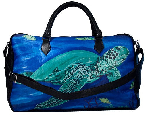 sea turtle leather bag