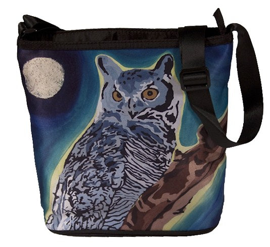 great horned owl cross body bag