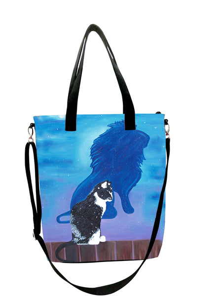 Cat Canvas Shoulder Bag - Antoine's Shadow